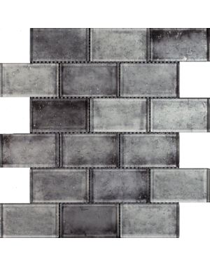 Luxury Tiles Grey Mix Glass Brick Effect Wall Mosaic Tile