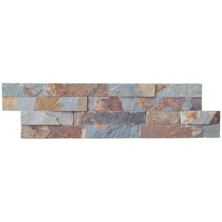 Luxury Tiles Multicolour Slate Split Face Tile cladding 100x360mm