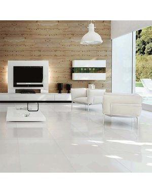 Luxury Tiles Mayfair White Diamond Gloss 60x60cm Wall and Floor Tile