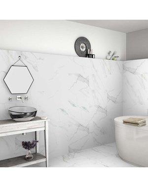 Luxury Tiles Parma Matt White Marble Effect 600x600mm Tile
