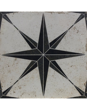 Luxury Tiles Madrid Star Black 290x290mm Floor and Wall Tile