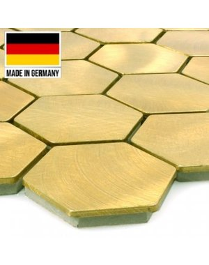 Luxury Tiles Mosaic and Aluminium Golden Honeycomb Tile