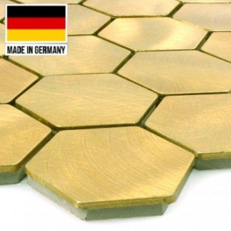 Luxury Tiles Mosaic and Aluminium Golden Honeycomb Tile 30cmx30cm