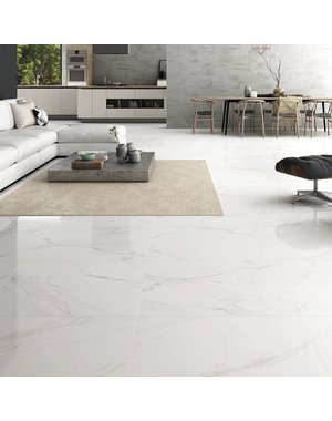 Luxury Tiles Turin Blanco Marble Effect Tile 600x600mm