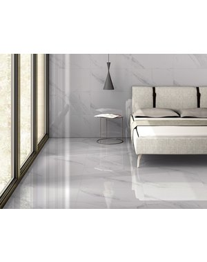Luxury Tiles Turin Blanco Marble Effect Tile 600x300mm