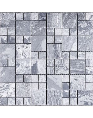 Luxury Tiles Concrete Grey Marble Square Wall and Floor Mosaic  Tile