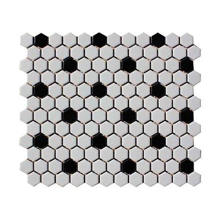 Luxury Tiles Mosaic and Porcelain Dalmatian Floor and Wall Tile 30cm x 26cm