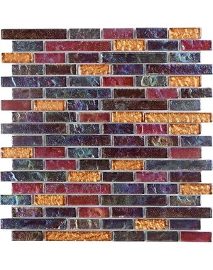 Luxury Tiles Mosaic and Glass Rainbow Mermaid Wall Tile 30.3cm x 30.3cm