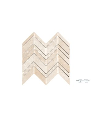 Luxury Tiles Crema Marfil Chevron Wall and Floor Tile 30.5cm x 30.5cm