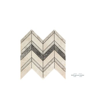 Luxury Tiles Elegant Mix Chevron Wall and Floor Tile 30.5cm x 30.5cm