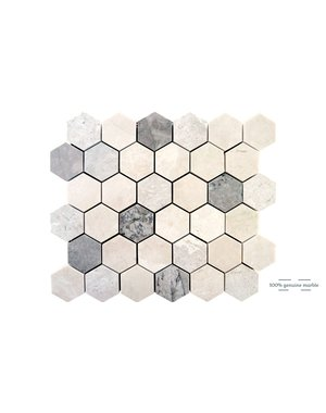 Luxury Tiles Elegant Mix Hexagon Wall and Floor Tile 30.5cm x 30.5cm