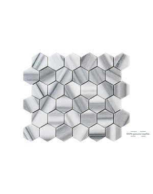Luxury Tiles Marmara Hexagon Wall and Floor Tile 30.5cm x 30.5cm