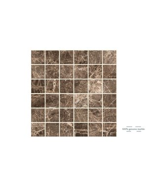 Luxury Tiles Emperador Dark Square Wall and Floor Tile 30.5cm x 30.5cm