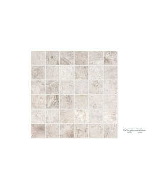 Luxury Tiles Silver Light Square Wall and Floor Tile 30.5cm x 30.5cm