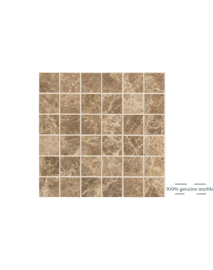 Luxury Tiles Emperador Light Square Wall and Floor Tile 30.5cm x 30.5cm