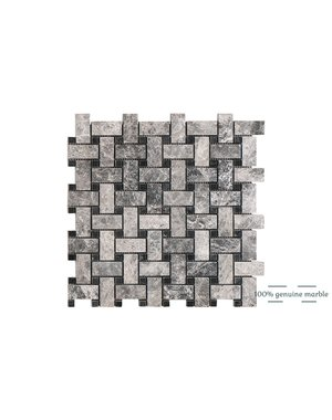 Luxury Tiles Silver Moon Basketweave Wall and Floor Tile 30.5cm x 30.5cm