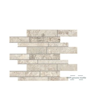 Luxury Tiles Silver Light Random Wall and Floor Tile 30.5cm x 30.5cm