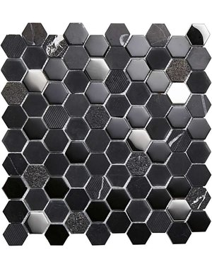 Luxury Tiles Gothic Shadow Geometric Metro Wall Tile 31cm x 31cm