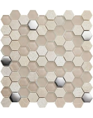 Luxury Tiles Desert Star Geometric Metro Wall Tile 31cm x 31cm