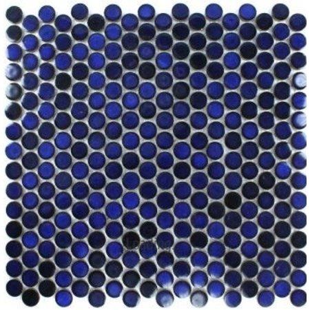 Deep Ocean Mosaic Floor and Wall Tile 30.5cm x 30.5cm