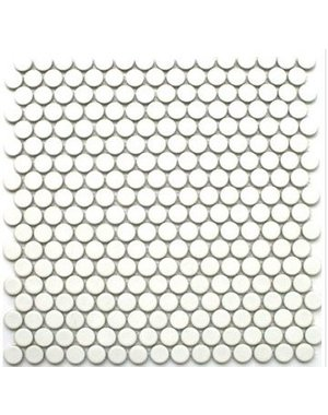 Cream Penny Mosaic Wall and Floor Tile 30.5cm x 30.5cm