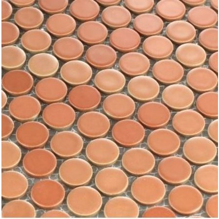 Russet Brick Mosaic Wall and Floor Tile 30.5cm x 30.5cm