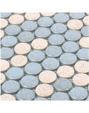 Luxury Tiles Pastel Penny Mosaic Wall Tile 31cm x 31cm