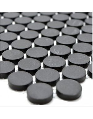 Charcoal Penny Mosaic Wall Tile 23cm x 26cm