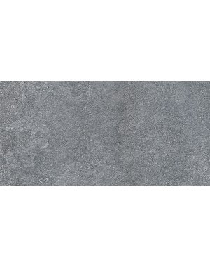 Aliza Black Limestone Effect 600x300mm Porcelain Matt Wall and Floor Tile
