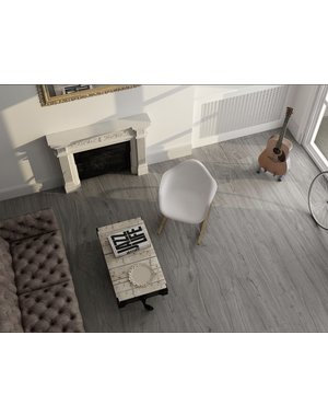 Elements Stone Grey Wood effect 1200x223mm Floor tile