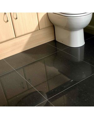 Noir Black Luxe Polished 600x600mm Porcelain Floor and Wall Tile