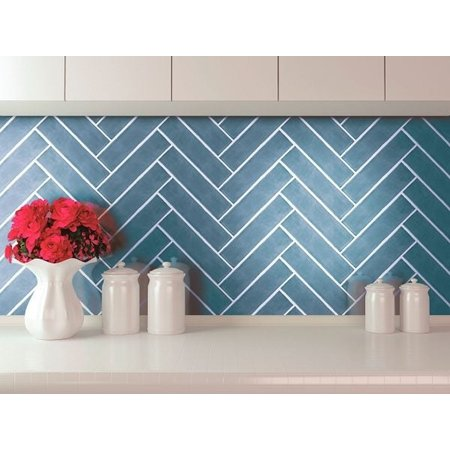 Luxury Tiles Soho Artisan Glaciar Gloss Metro Wall Tile 7.5x30cm