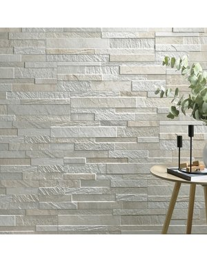 Luxury Tiles White Split Face Effect Porcelain Wall Tile