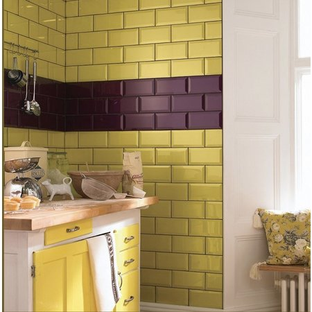 Luxury Tiles High Gloss Sol 20x10 Bevelled Metro Tile