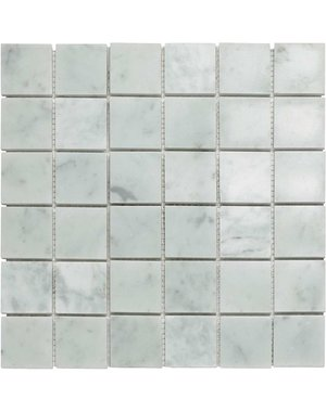 Luxury Tiles Tuscany Bianca Marble Mosaic Floor and Wall tile