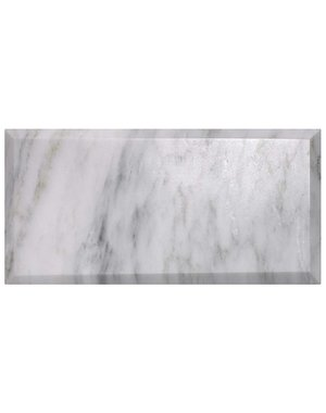 Luxury Tiles Tuscany Marble Bevelled Polished Metro Tile 20x10cm