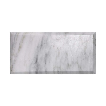 Luxury Tiles Tuscany Marble Bevelled Polished Metro Wall Tile 200x100mm