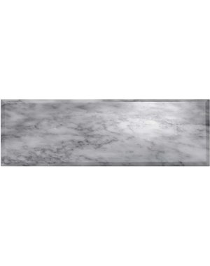 Luxury Tiles Tuscany Marble Bevelled Polished Metro Tile 30x10cm