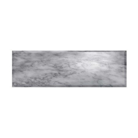 Luxury Tiles Tuscany Marble Bevelled Polished Metro Wall Tile 30x100mm
