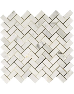 Luxury Tiles Lunigiana Marble Chevron Mosaic Floor and Wall Tile
