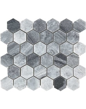 Luxury Tiles Baltic Grey Polished Marble Hexagon Mosaic Tile