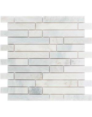 Luxury Tiles Amasya White Honed Marble Brick Mosaic Tile
