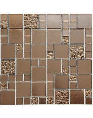 Luxury Tiles Faberge Rose Gold Glass Square Mosaic Tile