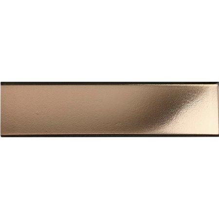 Luxury Tiles Faberge Rose Gold Glass Metro Tile 7.5x30cm
