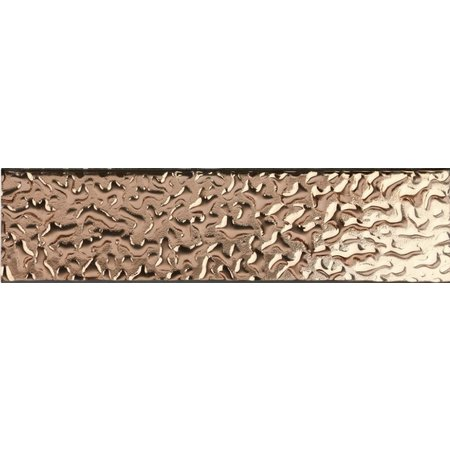 Luxury Tiles Faberge Rose Gold Veined Glass Metro Tile 7.5x30cm