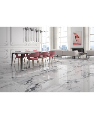 Luxury Tiles Belgravia Calacatta Marble Effect 750x750mm Tile