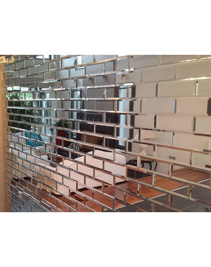 Luxury Tiles Dior Glass Mirror Brick Metro 75x200mm Tile
