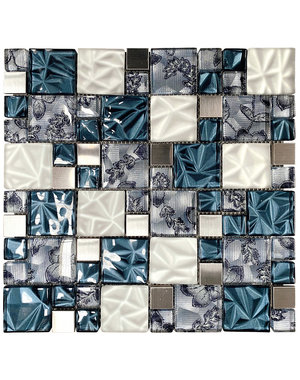 Luxury Tiles Lux Blue Square Mosaic