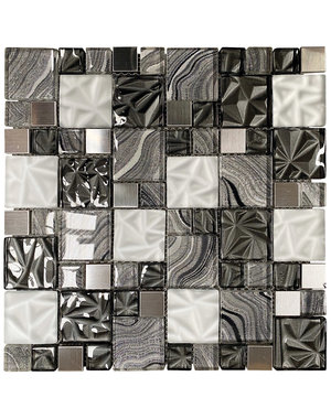 Luxury Tiles Lux Grey Square Mosaic