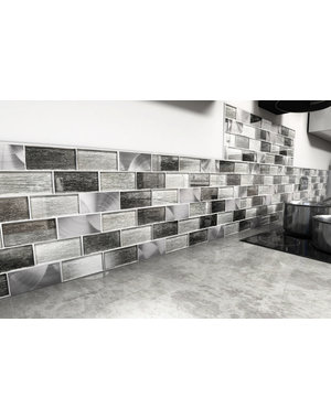 Craft Ceramics Portland Grey Brick Mosaic Tile